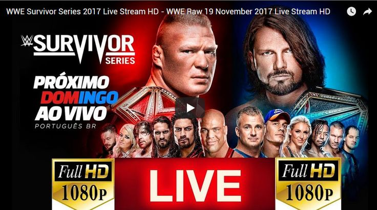 WWE Raw Survivor Series 19 November 2017 Live Stream HD