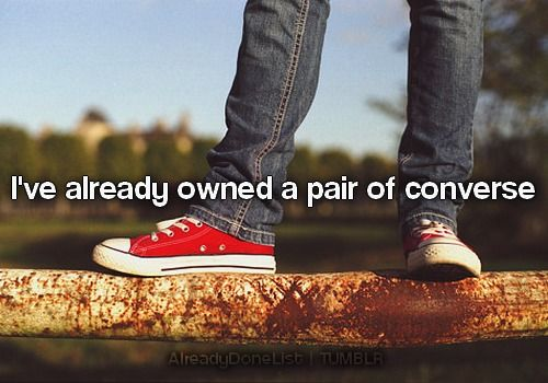 actually, 5 pairs. Blue, green, and plaid low-tops and cream and black high-tops. 1994-1996