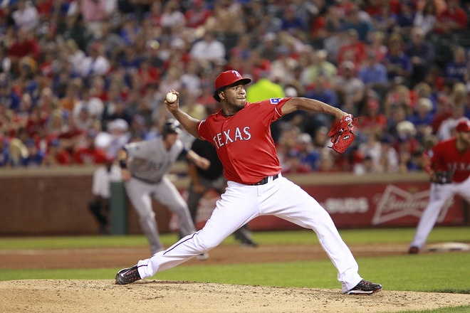 4-1 Raise your hand if you saw that coming. Sheesh. Apr. 10Texas Rangers, 4 1 Raised, Rangers 2012