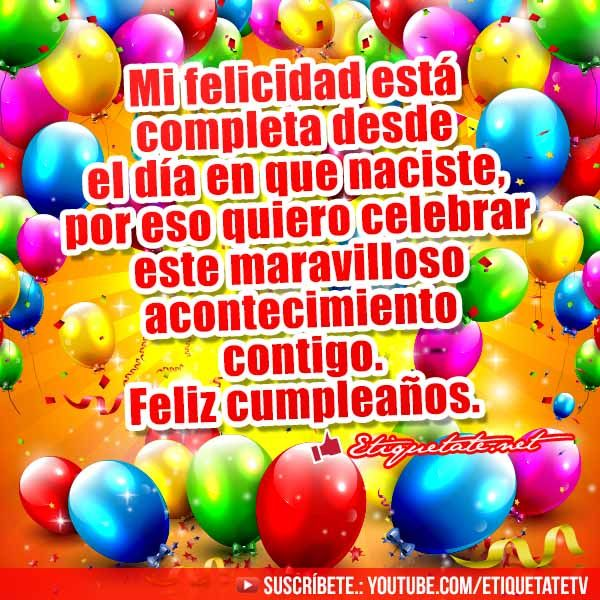 17 Best images about Frases para cumpleaños on Pinterest Amigos, Salud and Facebook
