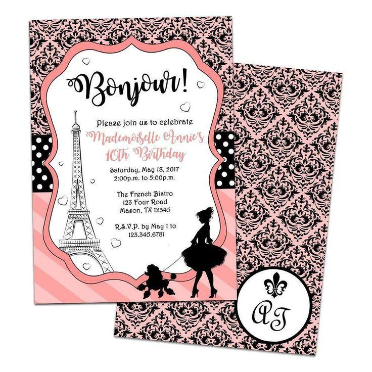Free Paris themed Invitation Template Awesome Elegant