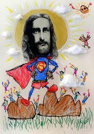 Jesus is portrayed as a superhero
