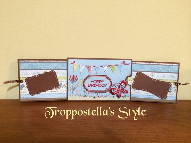 """Double Slider Card """"Buon compleanno""""  """"Happy Birthday"""" Double Slider Card Troppostella's Style"""