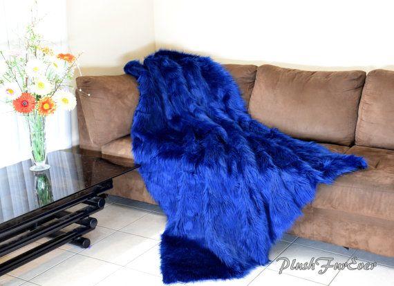 New Navy Blue Shaggy Faux Fur Comforters Blanket by PlushFurever https://www.etsy.com/shop/PlushFurever?section_id=14309378&ref=shopsection_leftnav_6