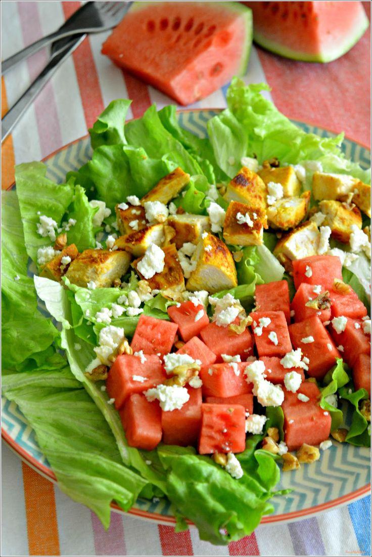 Sweet my Kitchen: Salada de frango e melancia