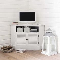 Cool Meuble Tv Duangle En Bois Blanc L Cm With Meuble Tv