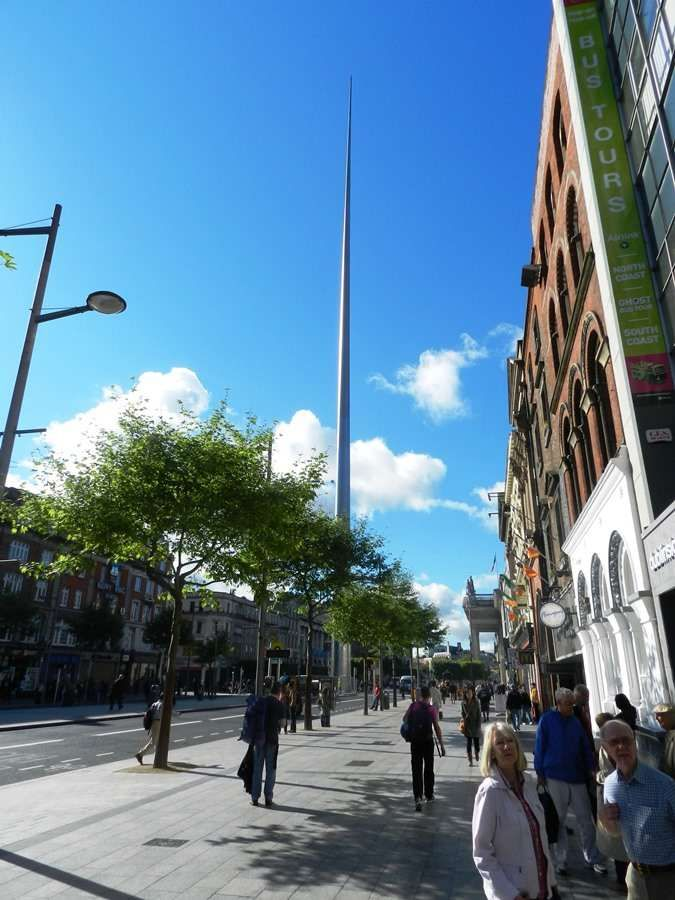 The Millenium Spire on O'Connell street makes a great navigation landmark for central Dublin.
