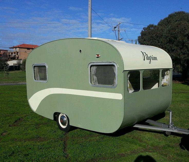 Vintage pilgrim caravan 1957