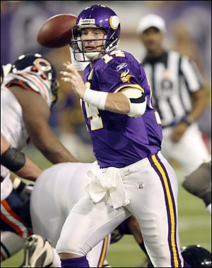 Brad Johnson, QB #14 - what a super good guy. Met him a few times always gracious.  Sure wish that Superbowl ring was with the purple and gold. :(
