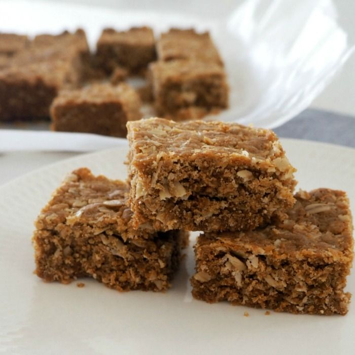 Although we love Anzac Biscuits, this Thermomix Anzac Slice Recipe is one of our favourites too! This Thermomix Anzac Slice recipe makes a great snack for