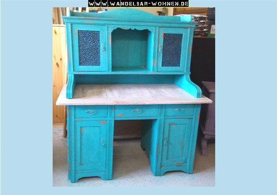 sekret r schreibtisch shabby chic annie sloan chalk. Black Bedroom Furniture Sets. Home Design Ideas