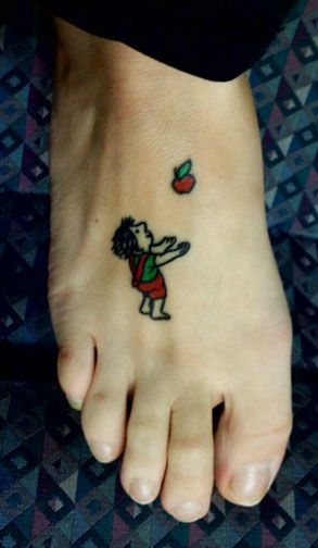 """A literary tattoo from """"The Giving Tree"""" by Shel Silverstein"""