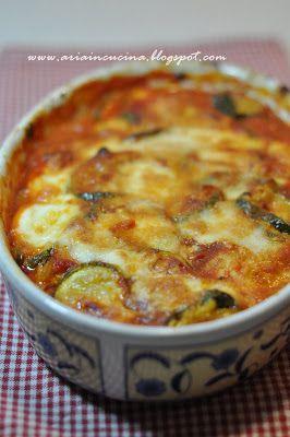 Parmigiana di Zucchine e mozzarella di Bufala