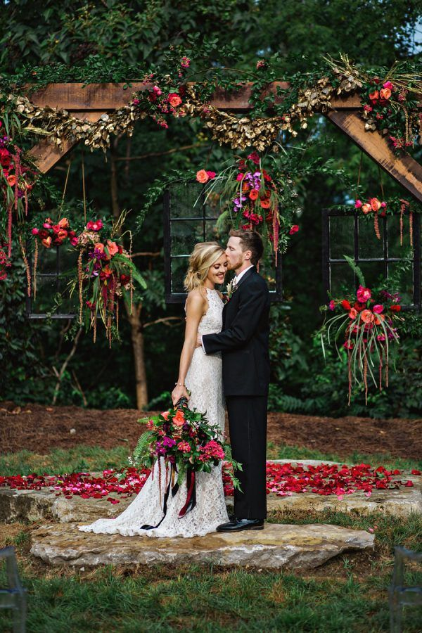 Cheery Bohemian Wedding Inspiration at a Rock Quarry - photo by Amilia Photography http://ruffledblog.com/cheery-bohemian-wedding-inspiration-at-a-rock-quarry | Ruffled
