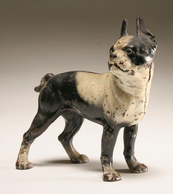 Boston Terrier painted cast iron doorstop. - 39 Best Antique Dogs Images On Pinterest Figurines, Cast Iron