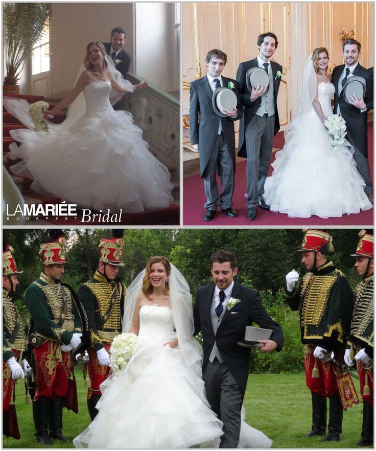 Erika bride by La Mariée Budapest bridal #Leante dress by Pronovias http://lamariee.hu/eskuvoi-ruha/pronovias-2015/leante