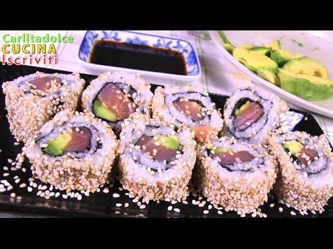 SUSHI AT HOME!! URAMAKI #3 | Carlitadolce Cucina