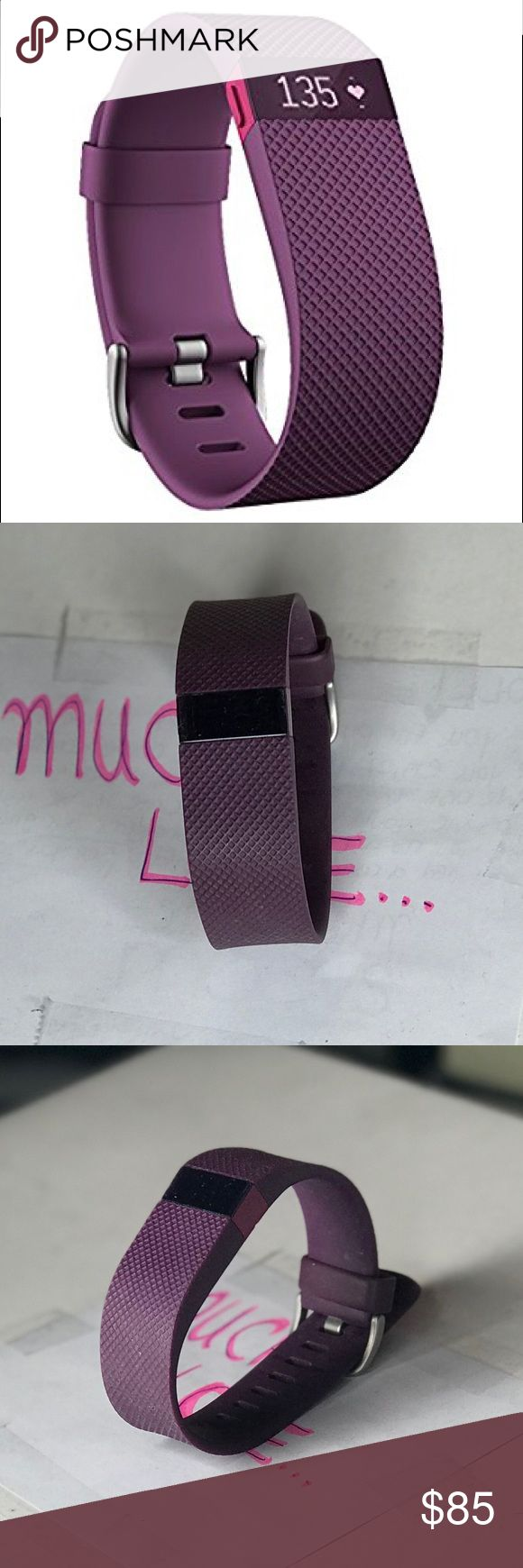 Fitbit Charge HR Wireless Activity Wristband Plum. Brand new. Fitbit Accessories Watches