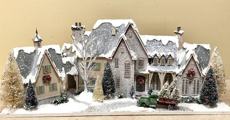 The Miles House! Christmas Glitter Houses by Tracey Pfeiffer