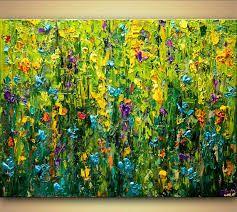 Resultado de imagen para textured floral paintings