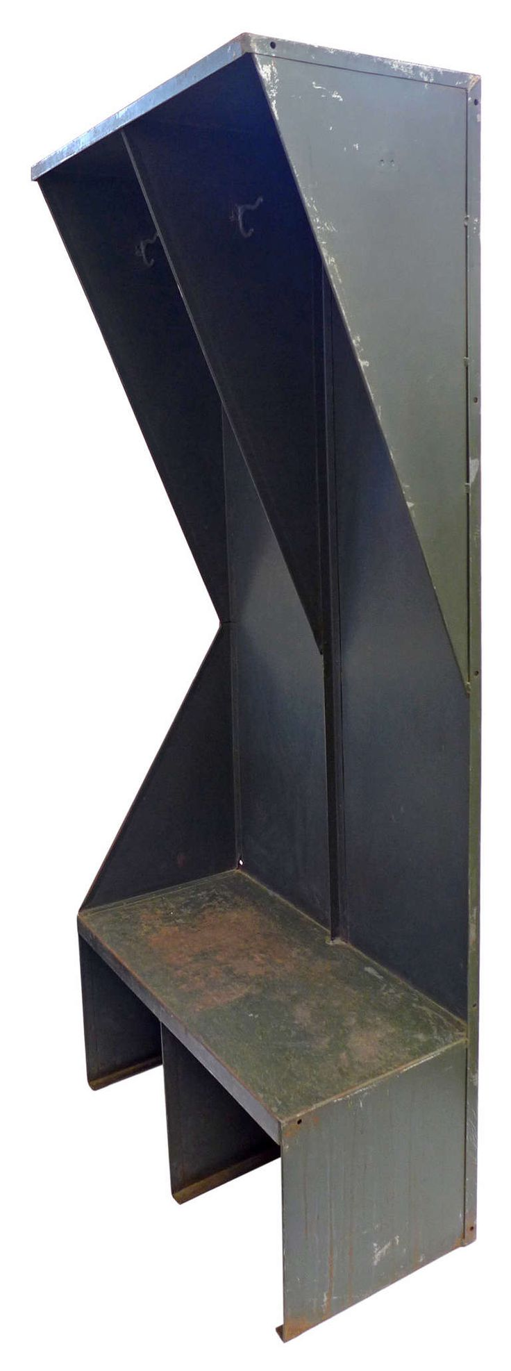 Unusual Open Storage Industrial Lockers | From a unique collection of antique and modern wardrobes and armoires at https://www.1stdibs.com/furniture/storage-case-pieces/wardrobes-armoires/