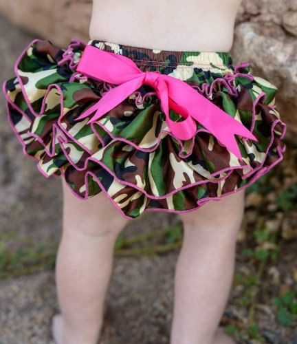 Baby Girl Boy Camo Camoflauge Satin Ruffle by dreammadestudio, $8.99