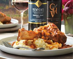 Braised Lamb Shanks with Goat-Cheese Mashed Potatoes