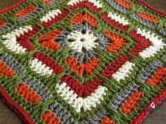 "Ravelry: Larksfoot Inspired 12"" Granny Square pattern by From Home ༺✿ƬⱤღ  http://www.pinterest.com/teretegui/✿༻"
