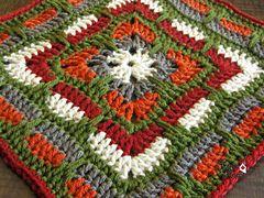 "Ravelry: Larksfoot Inspired 12"" Granny Square pattern by From Home ༺✿ƬⱤღ  http://www.pinterest.com/teretegui/✿༻"