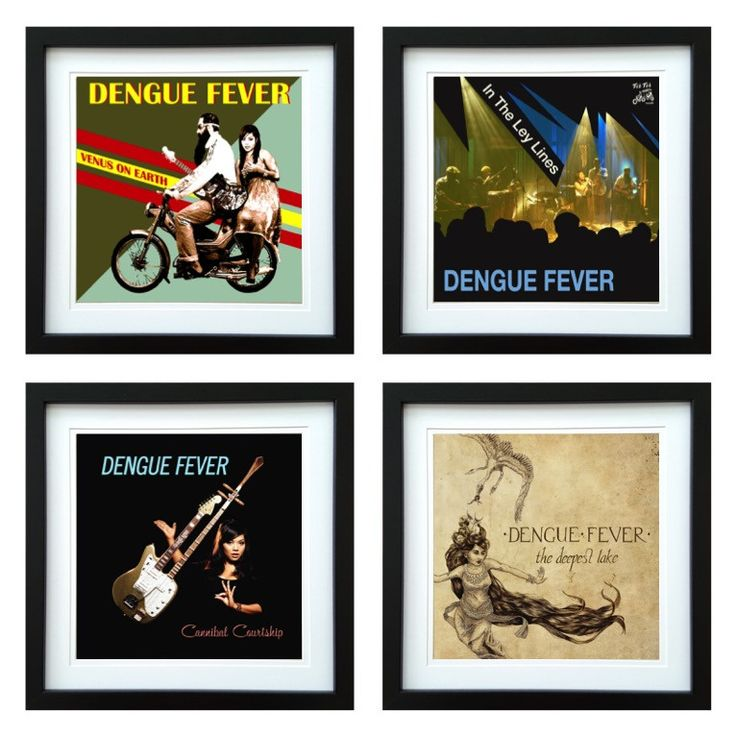 Dengue Fever | Framed Album Art Set of 4 Images | ArtRockStore