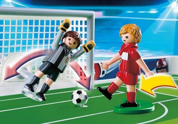 Playmobil Terrain de football et joueurs