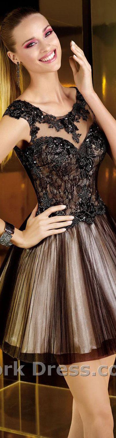Alyce Paris design #elegant #cocktail #black #mini #dress