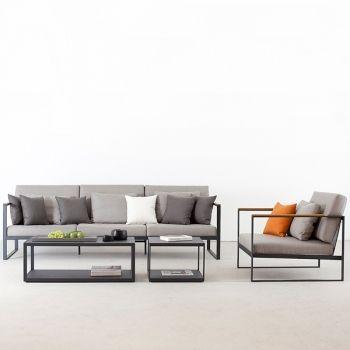 muebles de jardín en aluminio. Sofás de exterior