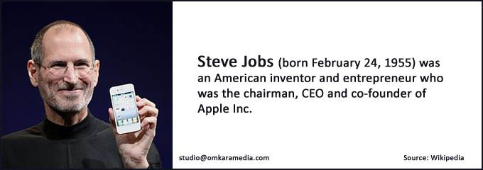 We admire and salute you Steve Jobs, co-founder of Apple Inc.