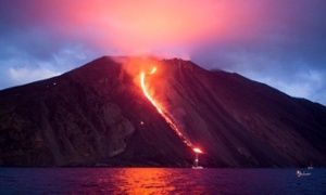 Top 10 active volcanoes to see up close [Stromboli shown here]