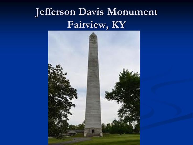 jefferson davis monument location