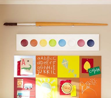 Jumbo Paint Palette and Paint Brush #pbkids Play Room Decor