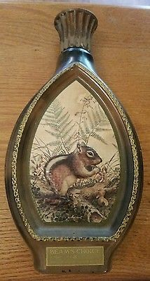 Jim Beam Decanter Chipmunk Liquor Whiskey Vintage 1976