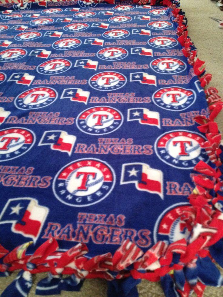 Texas Rangers Blanket - MLB Baseball Fleece No Sew, Large Adult Sized ...