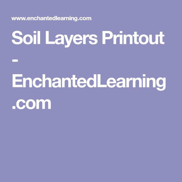 Soil Layers Printout - EnchantedLearning.com