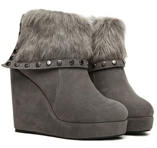 warme schicke winter stiefel stiefelette ankle boots mit. Black Bedroom Furniture Sets. Home Design Ideas