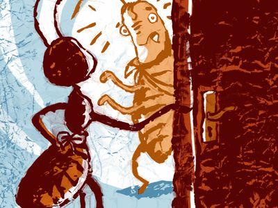 Lire l'histoire : La Cigale et la Fourmi - Fables-poesies - Il était une histoire: Illustration, The Thing