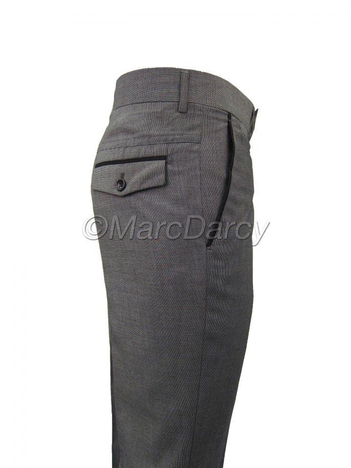 Mens NXR light Grey desinger flat fronted Regular Fit Trousers