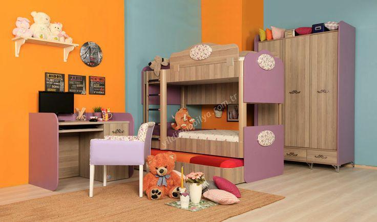 Madame Ranzalı Genç Odası #ranza #genc #odasi #youngroom #bed #princess #yildizmobilya #mobilya #pinterest http://www.yildizmobilya.com.tr/