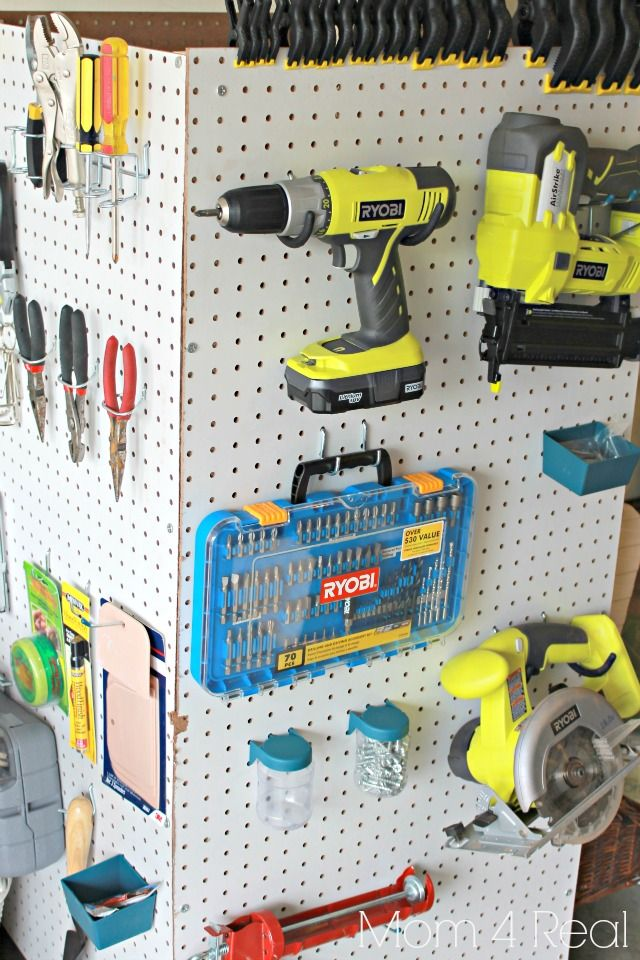 Portable Pegboard Tool Storage - such a great use of space!