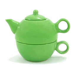 I bought a set of 6 of these (in different colors)to serve to guests after dinner. Everyone always loves receiving their own little tea pot and cup!