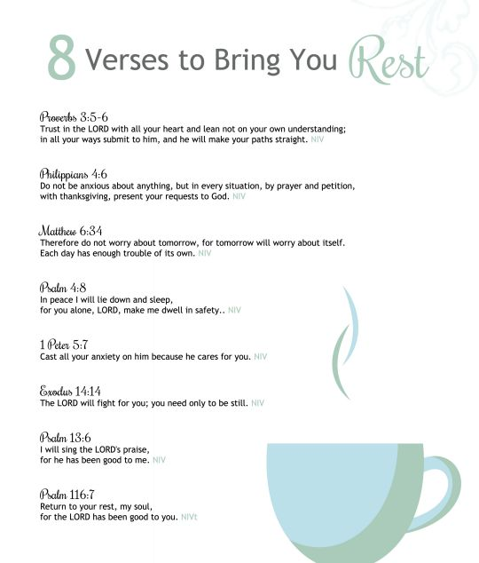 8 Scripture Verses to Bring Rest to Your Spirit — the Better Mom
