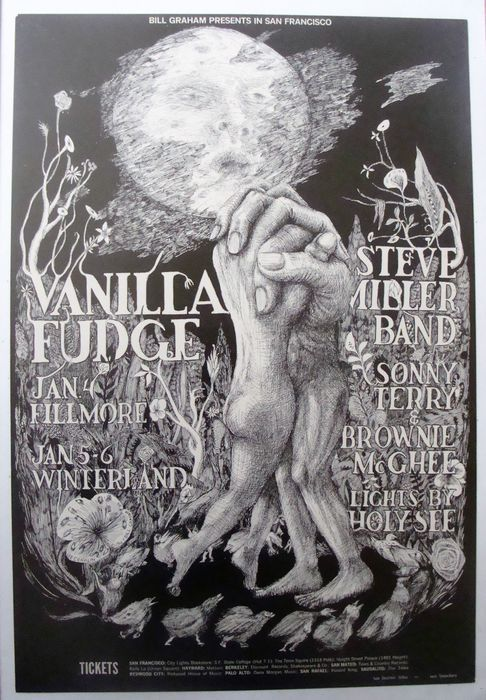 Vanilla Fudge / Steve Miller Band at the Fillmore San Francisco by Lee Conklin 1968 - W.B.