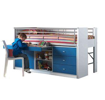 17 beste idee n over stapelbed bureau op pinterest kinderbedden - Mobilier afneembaar ...