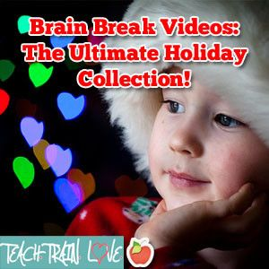 Brain Break videos for Halloween, Thanksgiving, Christmas, 100th Day of School, Valentine's Day (yes, that definitely counts as a holiday), Saint Patrick's Day, and Earth Day!  We know kids need to release energy around these exciting times.  :-)